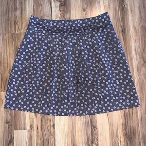 Ann Taylor Loft Silk Pleated Mini Skirt